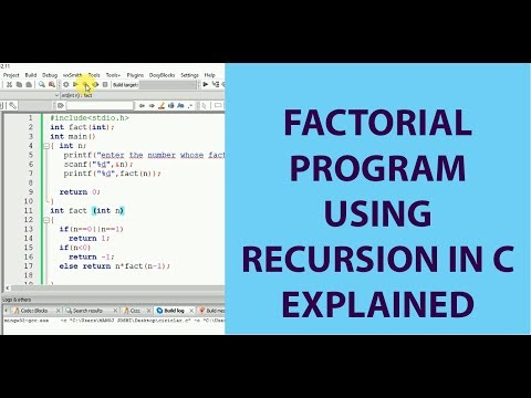 factorial-program-using-recursion-in-c
