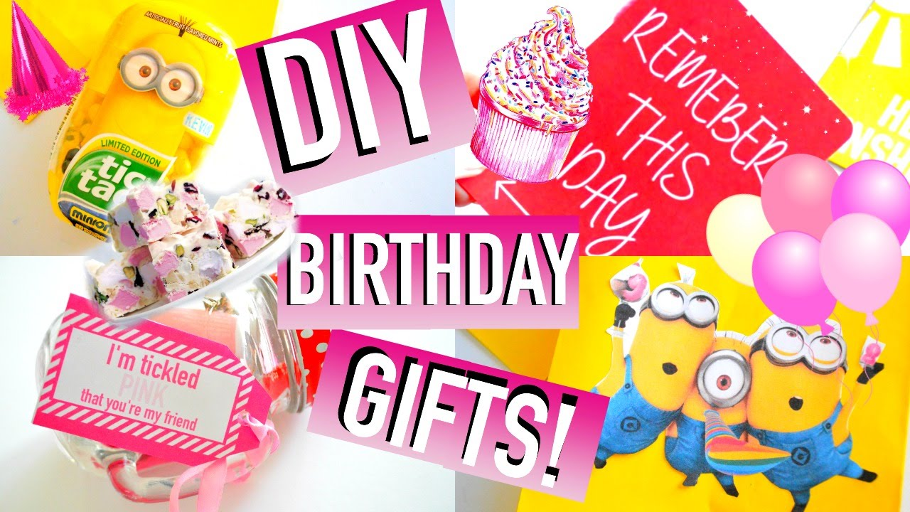 Diy birthday gift ideas easy affordable quick for Easy presents to make for friends