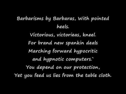 System Of A Down - BYOB Lyrics