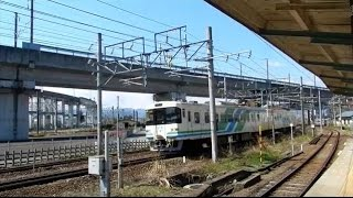 福島交通飯坂線 曽根田駅の列車集