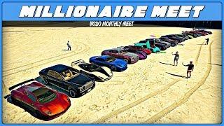 "GTA 5 Online - ""Millionaire Cars""   Car Meet #16 (PS4)   NoDo MM 2 August"