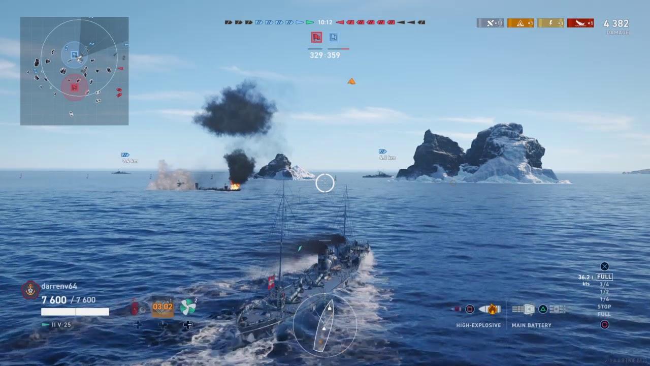 World of Warships: Legends V-25 Harpooning big ships. - YouTube