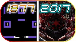 EVOLUTION of PINABALL video games (1977-2017) (Pinball history)