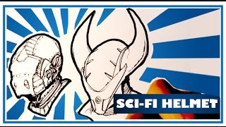 How to Draw a Sci-fi Helmet - Easy Things to Draw