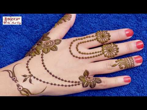 NEW SIMPLE MEHNDI DESIGN | TRY THIS CUTE & STYLISH MEHNDI DESIGN | Jewelry Mehndi Design thumbnail