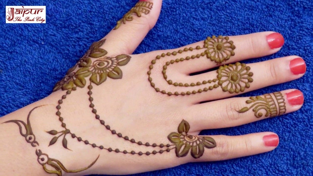 Stylish and simple mehandi designs new photo
