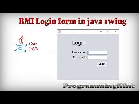 RMI Login Form in java swing using netbeans IDE