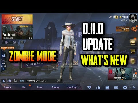 PUBG MOBILE 0.11.0 GLOBAL UPDATE IS HERE WHAT'S NEW | ZOMBIE MODE