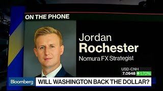 Aug.05 -- Jordan Rochester, Nomura FX strategist, expects the U.S. to raise tariffs on Chinese goods even higher and he expects the yuan to move even lower.