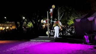 New Mexico  State Fair 2018 - Totonac Pole Flyers - Rainbow Dance    MOV 0891