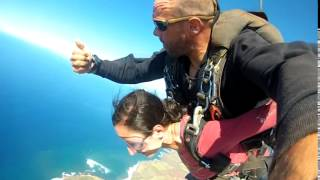 Nargis SKY DIVE JUMPING FIRST TIME out of an airplane at Skydive Kauai 2014 :D Thumbnail