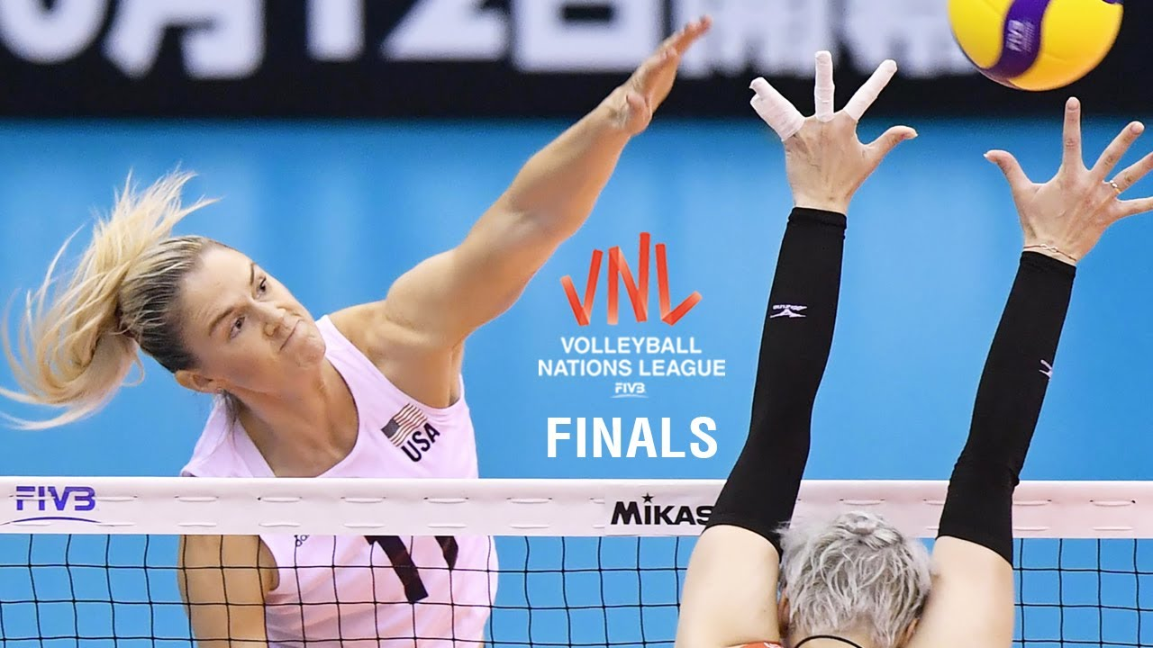 Andrea Drews Powerful Spiker l USA FIVB Volleyball Nations League 2019