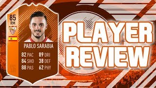 FIFA 18 - MOTM 85 RATED PABLO SARABIA PLAYER REVIEW!!! FIFA 18 ULTIMATE TEAM PLAYER REVIEW!!!