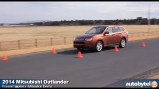 Forward Collision Mitigation System Demo 2014 Mitsubishi Outlander - Active Safety Car Technology