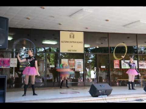 Hula-hupi. Circus group Jauniba.Riga, Latvija