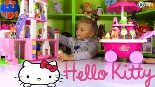 СЮРПРИЗЫ ХЕЛЛО КИТТИ Играем в Магазин Сладостей Игрушки Hello Kitty! КОНКУРС в ВК от ЯРОСЛАВЫ