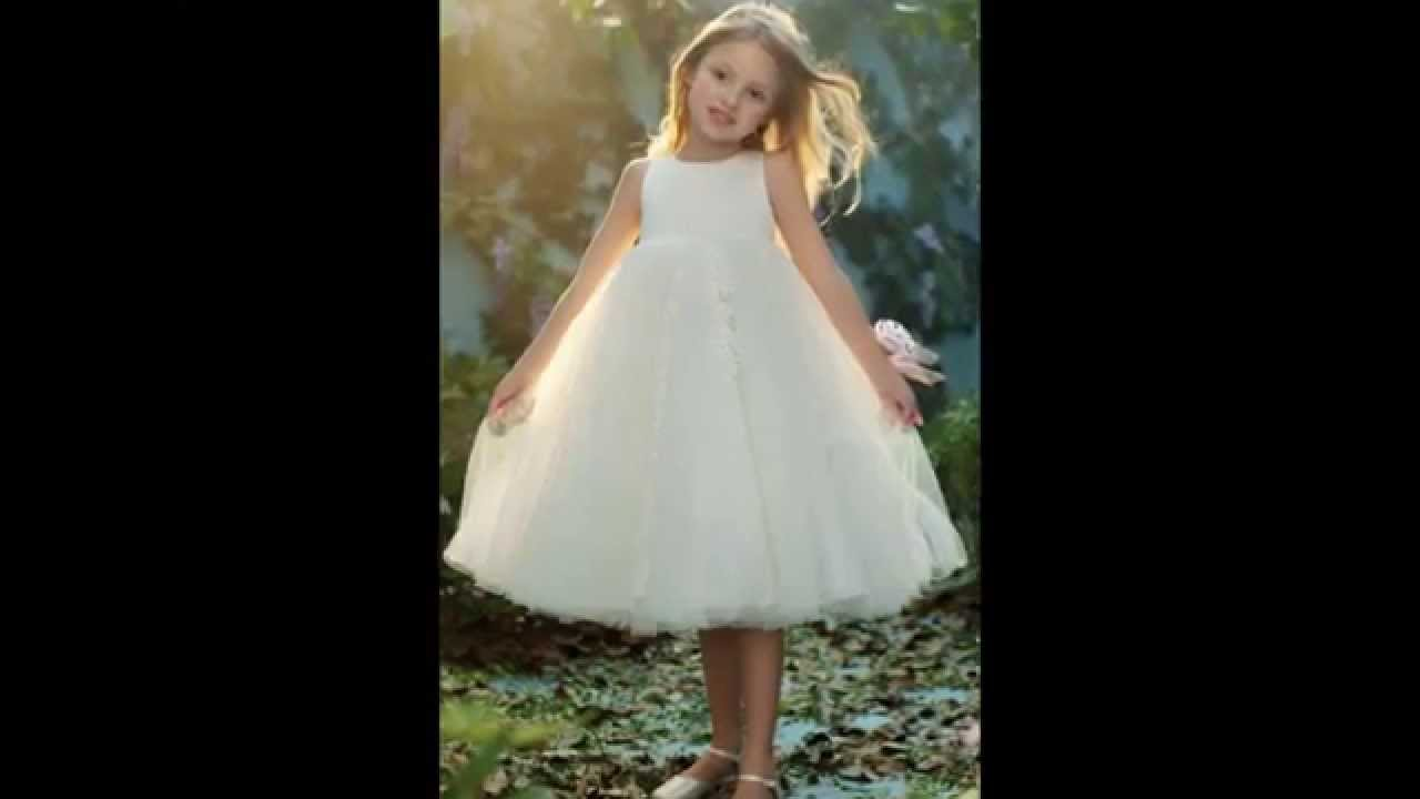 ef678a1789093 اجمل تصميمات فساتين زفاف للاطفال 2014 - YouTube
