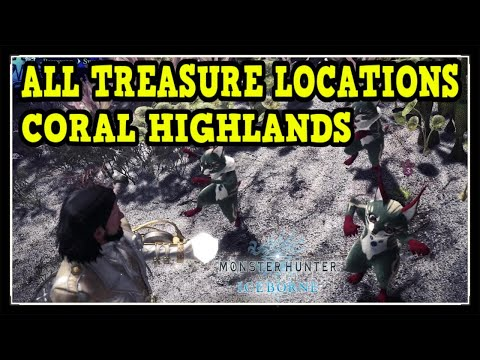 MHW Iceborne Coral Highlands All Treasure Locations - Ultimate Collector Trophy / Achievement Guide