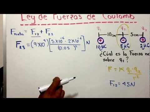 Ley de fuerzas de Coulomb (I).mov