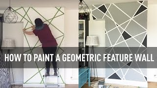 How to paint a geometric feature wall | A Colourful Home