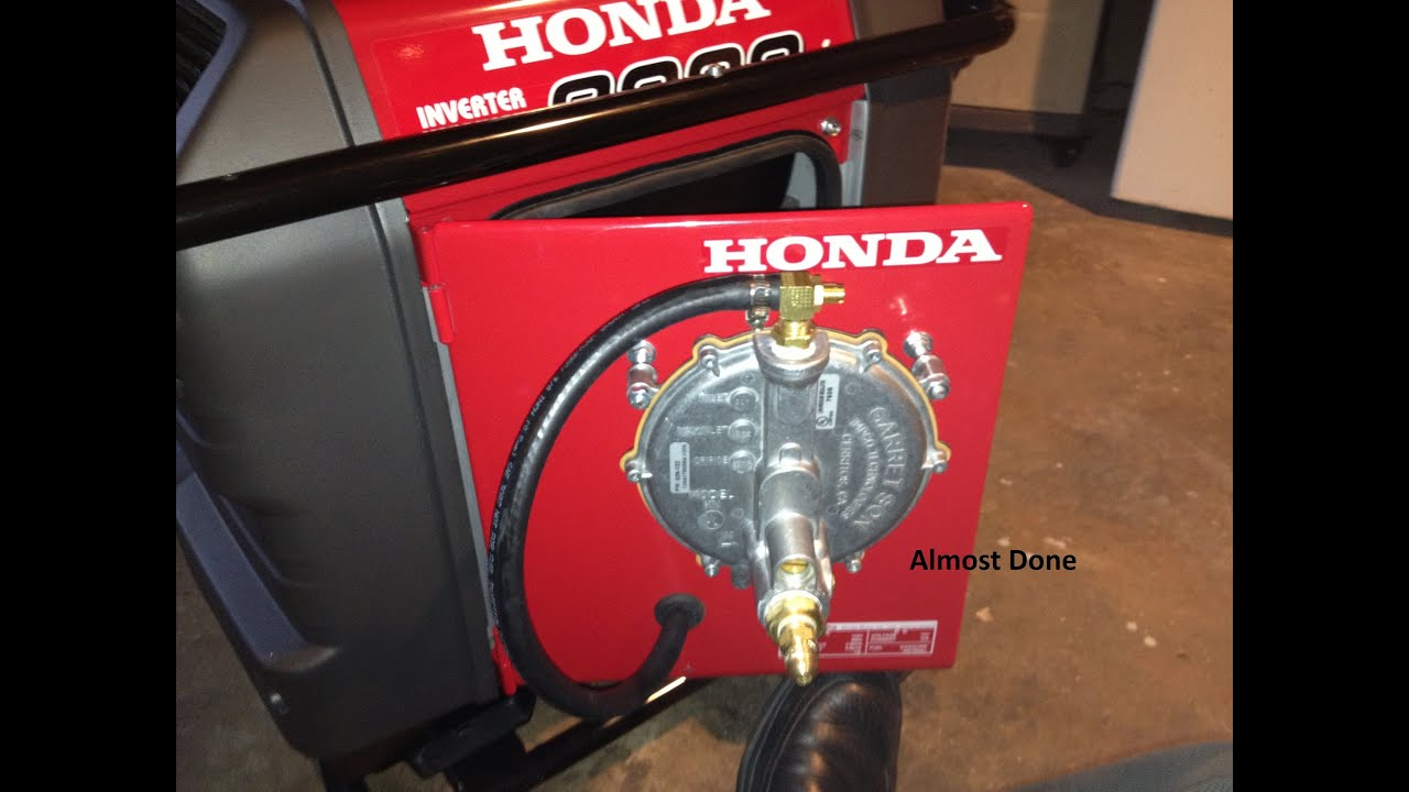Honda Eu3000is Conversion To Tri Fuel Source Youtube