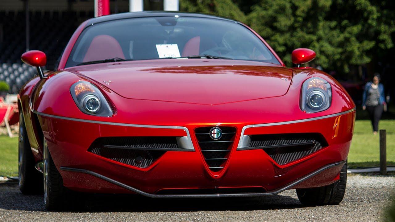 Alfa Romeo Disco Volante >> Touring Superleggera Alfa Romeo Disco Volante - Loud Sound & Revs!!! - YouTube