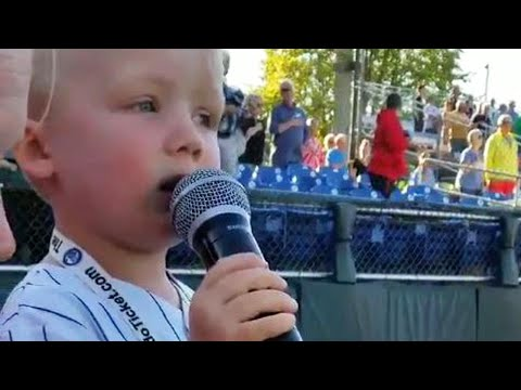3YearOld Boy Wows Crowd With National Anthem at New York Baseball Game