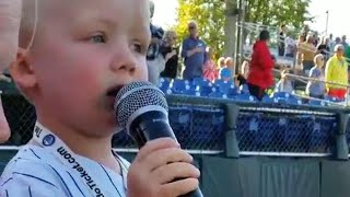 3-Year-Old Boy Wows Crowd With National Anthem at New York Baseball Game