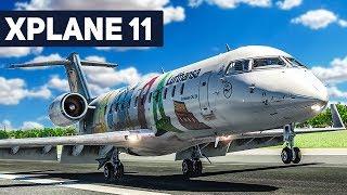 X-Plane 11 CRJ 200 Frankfurt - Berlin #2: Der TAKE OFF! | Flug Simulator