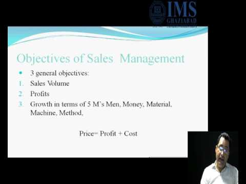 Objectives of sales management - YouTube