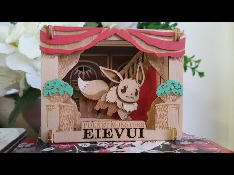 PAPER THEATER - Wood Style Pokemon PT-W06 Eevee to Issho - Time Lapse Build