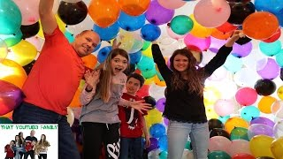 We build a giant balloon fort inside our house and then pop it! We ...