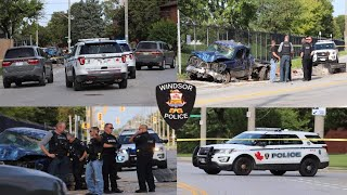 Driver Fled After Serious Collision On Seminole St - Windsor Police On Scene