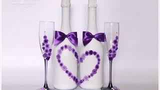 Украшение Бокалов И Шампанского На Свадьбу Своими Руками