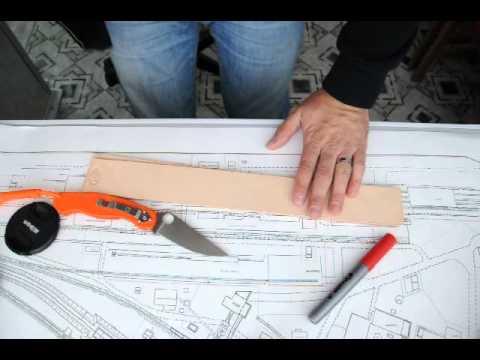 Unboxing полосочек кожи для правки ножей.