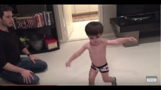 "Rad Toddler Dancing to Justin Timberlake's ""Can't Stop The Feeling!"""