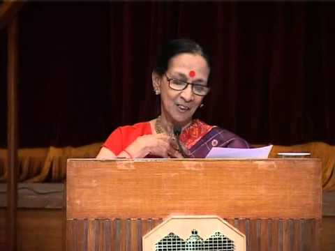 Special lecture(and abhinaya-the concept of beauty in Indian aesthetics) by Mrinalini Sarabhai