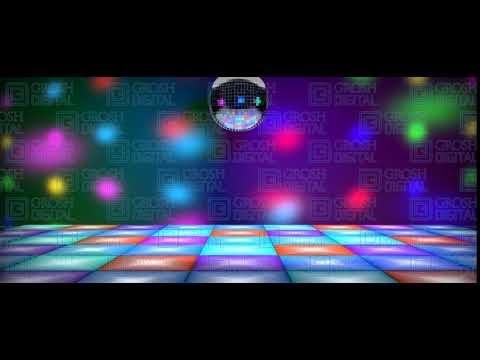 Disco Dance Floor Projected Backdrop By