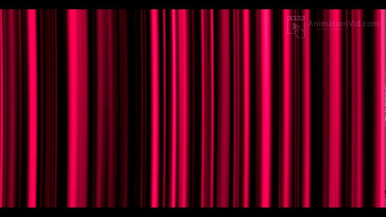 Stage curtains animation - Pink Stage Curtain Animation