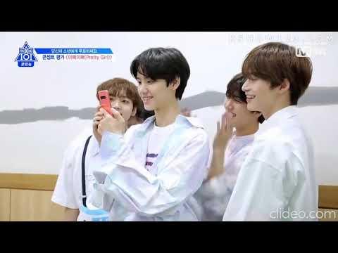 Produce X 101    Pretty Girl Team Practice