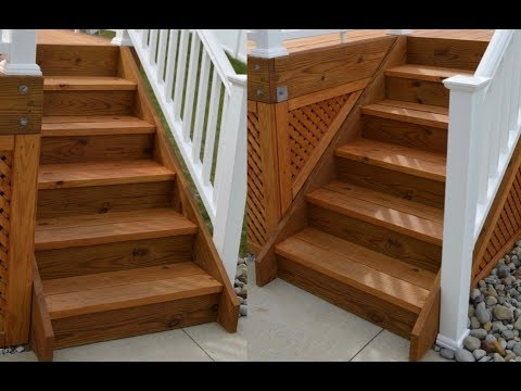 How I Build Outdoor Deck Stairs Youtube | 3 Step Outdoor Stairs | Wrap Around | Prefab | Outdoor Shed | Framing | Concrete