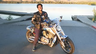 My First MOTOVLOG in USA! Harley Davidson VROD