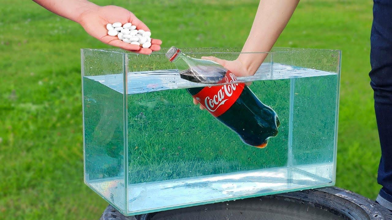 Crazy Experiment of Coca Cola and Mentos Under Water - Epic