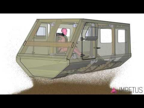 Mine blast simulation - TARDEC generic vehicle hull