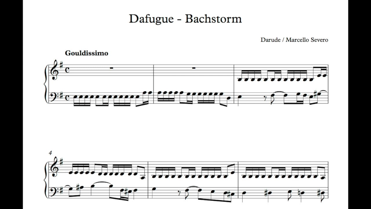 Darude Sandstorm But Its A Bach Fugue Played By Gould Youtube