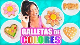 GALLETAS DE COLORES! COOKING con Sandra ♥ DULCES PARA REGALAR DIY DIA DE LAS MADRES ♥ SandraCiresArt