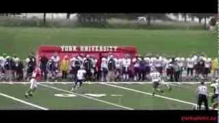 York Lions | Football vs. Wilfrid Laurier Golden Hawks highlights - September 7, 2013