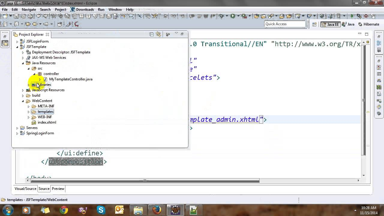 jsf page templating with facelets youtube