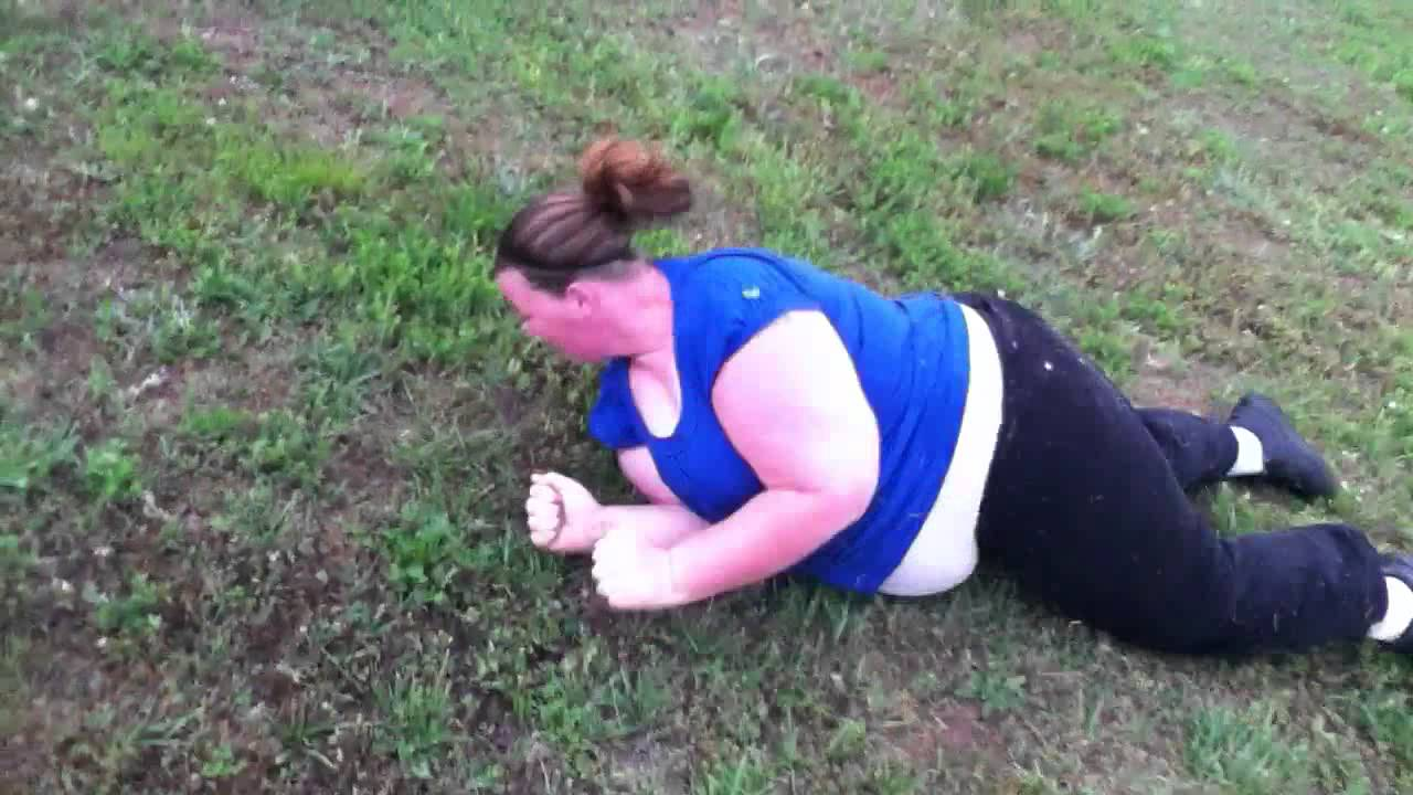 Fat Girl Rolling Down A Hill Youtube