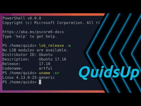 Microsoft PowerShell Core 6.0 in Linux
